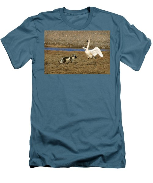 Fox Vs Swan Men's T-Shirt (Athletic Fit)