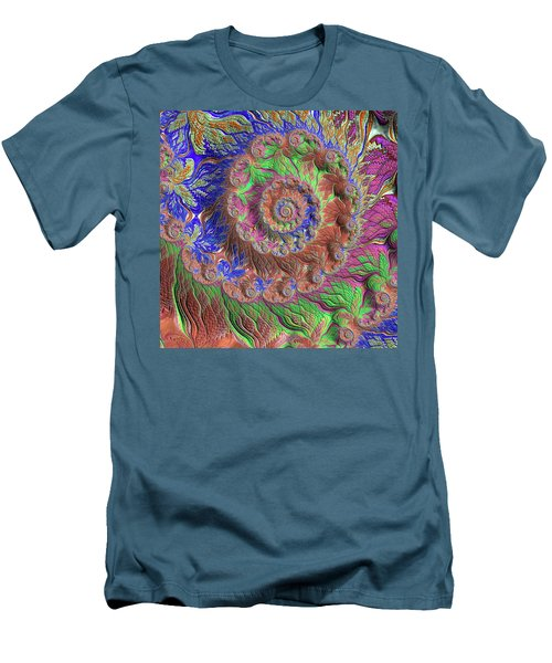 Men's T-Shirt (Slim Fit) featuring the digital art Fractal Garden by Bonnie Bruno