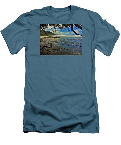 Framing The Tide Men's T-Shirt (Slim Fit) by Pamela Blizzard