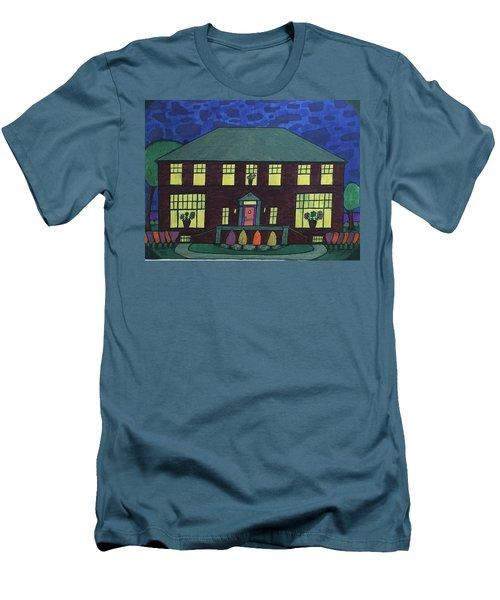 Frank Spies Home. Historical Menominee Art. Men's T-Shirt (Slim Fit) by Jonathon Hansen