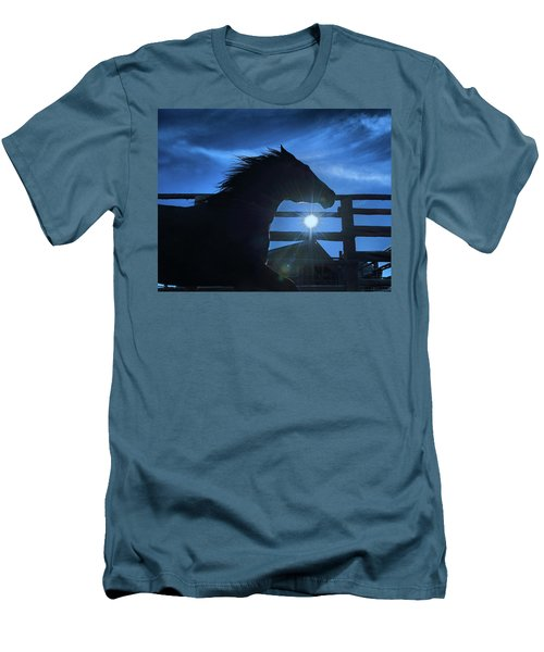 Free Spirit Horse Men's T-Shirt (Athletic Fit)