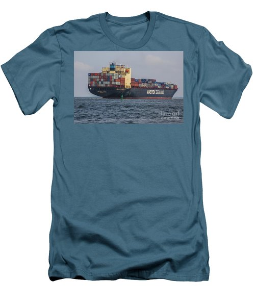 Freighter Headed Out To Sea Men's T-Shirt (Athletic Fit)