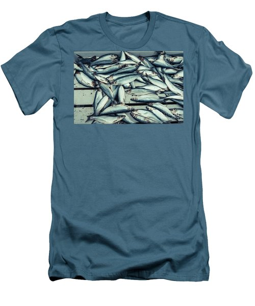 Men's T-Shirt (Athletic Fit) featuring the photograph Fresh Caught Herring Fish by Edward Fielding