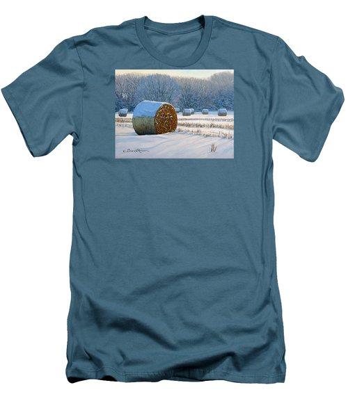 Frigid Morning Bales Men's T-Shirt (Slim Fit) by Bruce Morrison