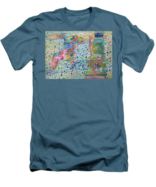 Men's T-Shirt (Slim Fit) featuring the painting From The Altered City by Fabrizio Cassetta