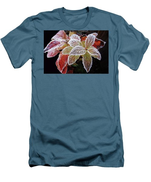 Frost Cluster Men's T-Shirt (Slim Fit) by Betsy Zimmerli