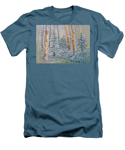 Winter Frost Men's T-Shirt (Slim Fit) by Joanne Smoley