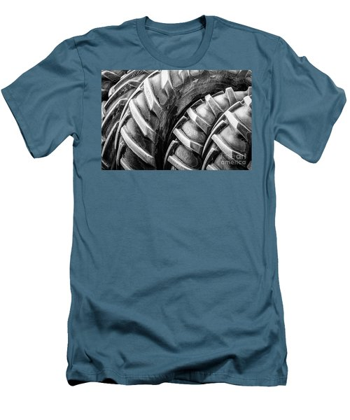 Men's T-Shirt (Slim Fit) featuring the photograph Frosted Tires by Brad Allen Fine Art