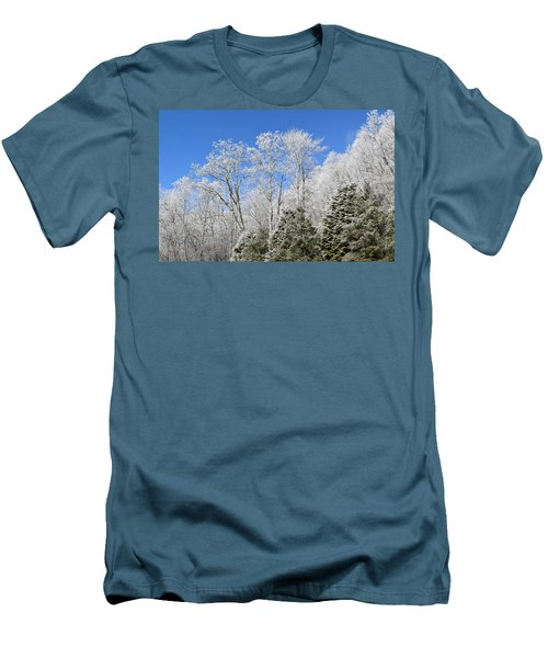 Frosted Trees Blue Sky 1 Men's T-Shirt (Athletic Fit)