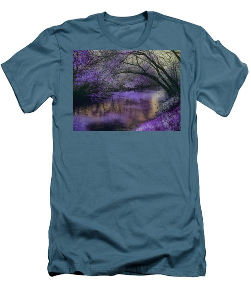 Frosty Lilac Wilderness Men's T-Shirt (Slim Fit) by Michele Carter