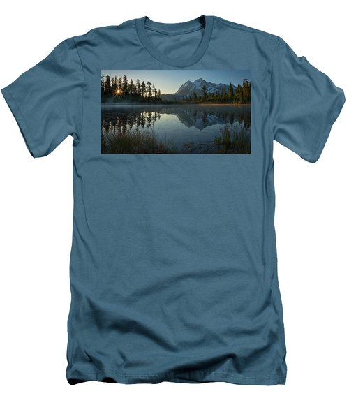 Frosty Picture Lake Men's T-Shirt (Slim Fit) by Dan Mihai