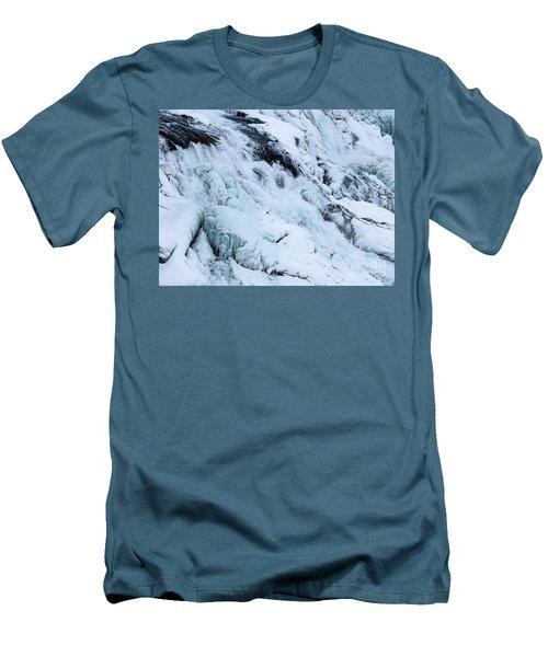 Frozen Gullfoss In Winter Men's T-Shirt (Athletic Fit)