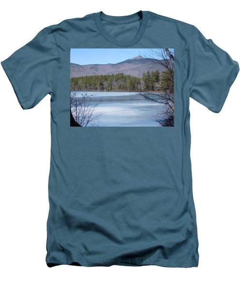 Frozen Lake Chocorua Men's T-Shirt (Slim Fit) by Catherine Gagne
