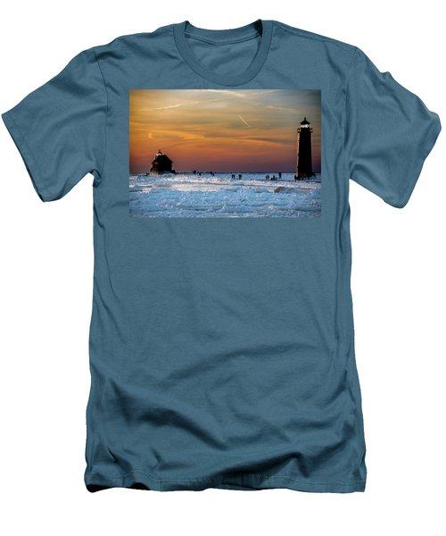 Frozen Lighthouse Men's T-Shirt (Athletic Fit)