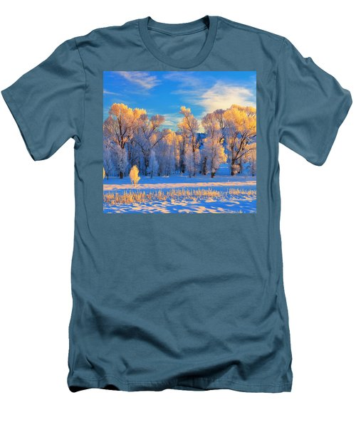 Frozen Sunrise Men's T-Shirt (Athletic Fit)