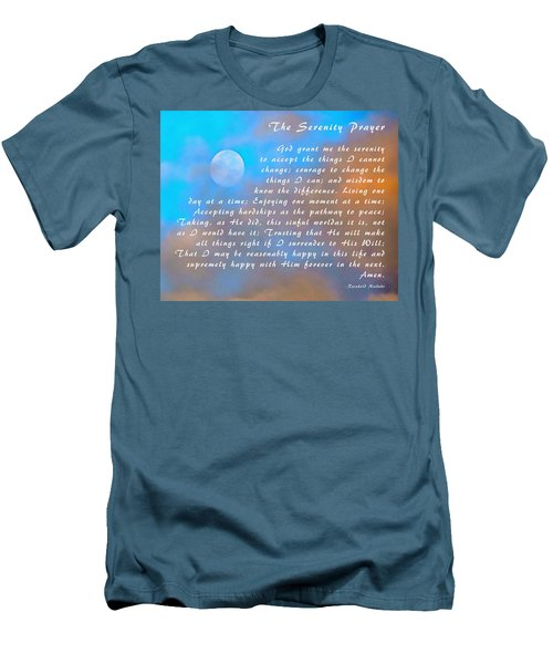 Men's T-Shirt (Slim Fit) featuring the photograph Full Moon Serenity Prayer Digital by Floyd Snyder