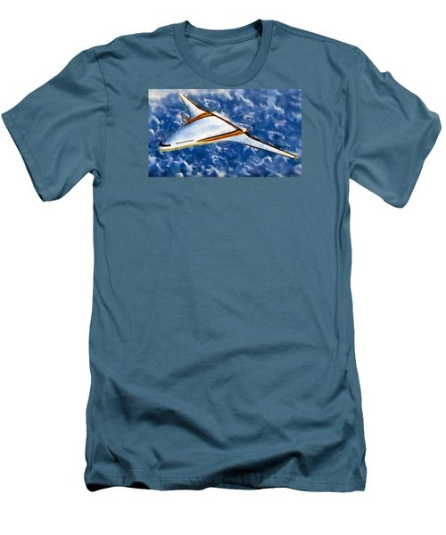 Men's T-Shirt (Slim Fit) featuring the painting Future Flight by Mario Carini