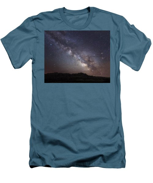 Galactic Light On Badlands National Park Men's T-Shirt (Athletic Fit)