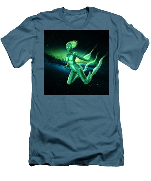 Galaxy Mermaid Men's T-Shirt (Slim Fit) by Rene Lopez