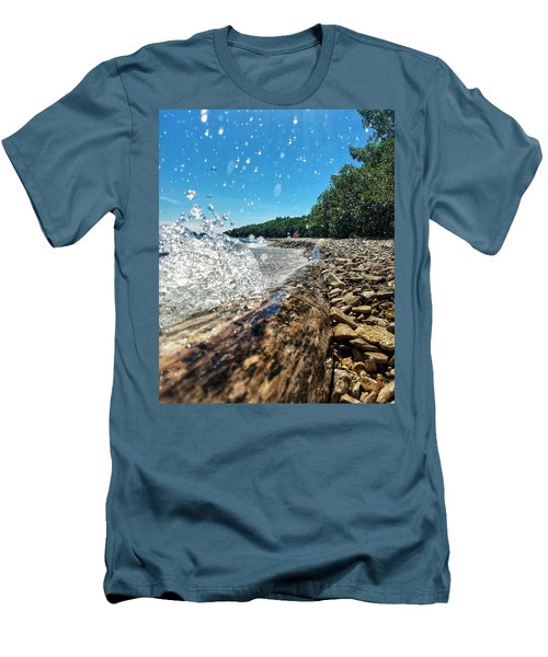 Galaxy Splash Men's T-Shirt (Slim Fit) by Nikki McInnes