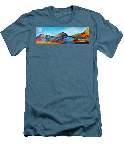 Galaxyscape Men's T-Shirt (Slim Fit) by Elizabeth Fontaine-Barr