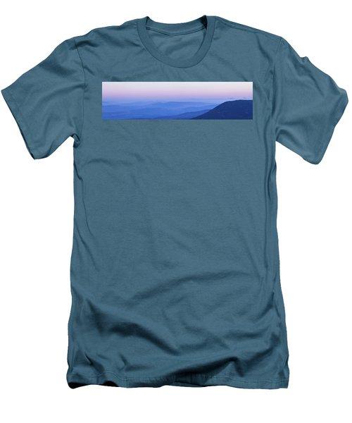 Galilee Mountains Sunset Men's T-Shirt (Slim Fit) by Yoel Koskas