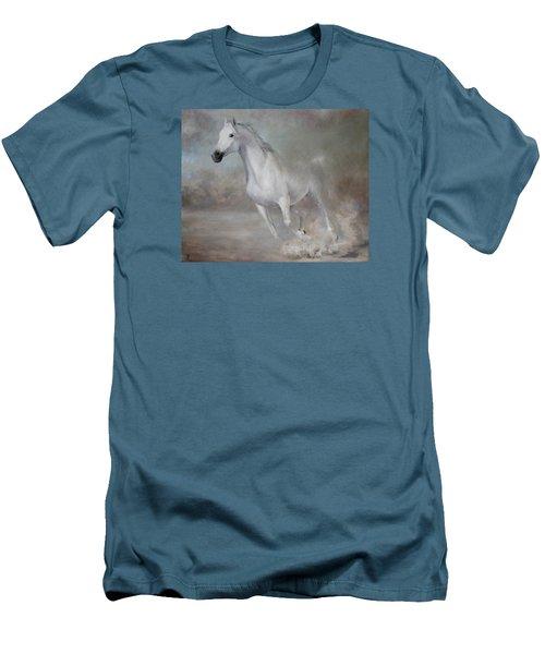 Gallop Men's T-Shirt (Slim Fit) by Vali Irina Ciobanu