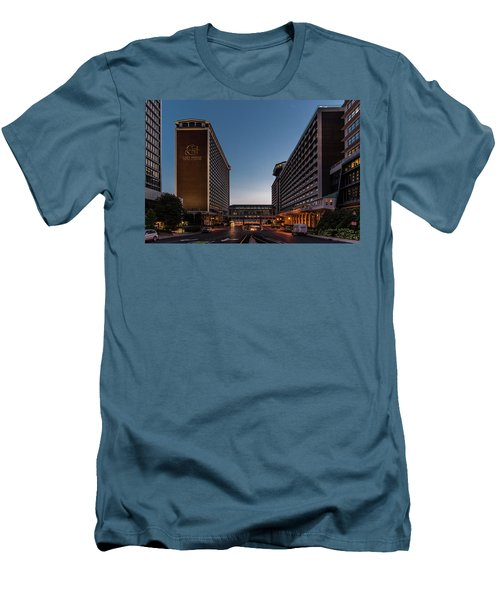 Men's T-Shirt (Athletic Fit) featuring the photograph Galt House Hotel And Suites by Randy Scherkenbach