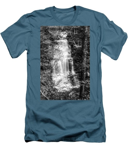 Men's T-Shirt (Slim Fit) featuring the photograph Ganoga Falls - 8907 by G L Sarti