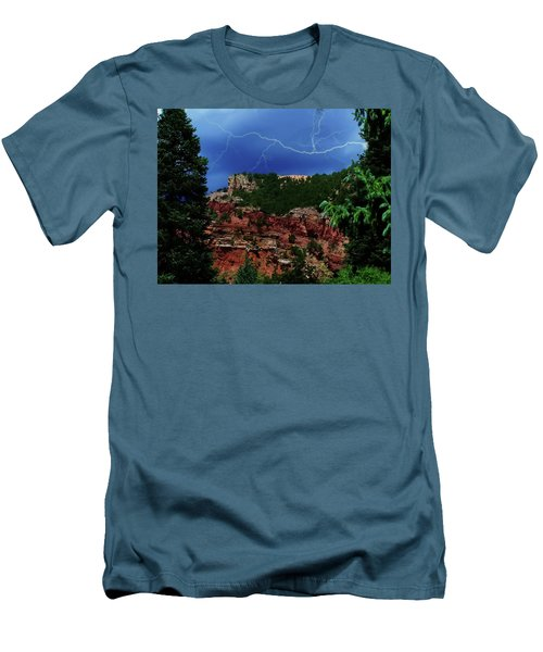 Men's T-Shirt (Slim Fit) featuring the digital art Garden Of The Gods by Chris Flees