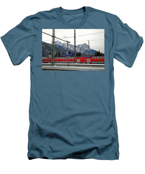 Garmisch-partenkirchen In Winter Men's T-Shirt (Athletic Fit)