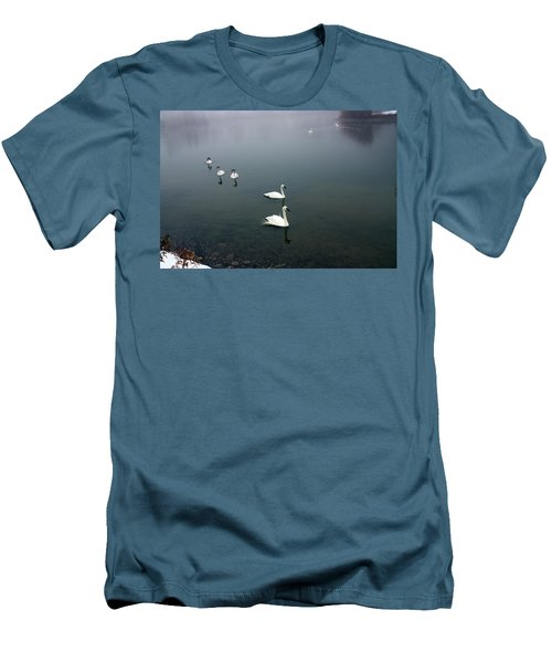Geese In A Row Men's T-Shirt (Athletic Fit)