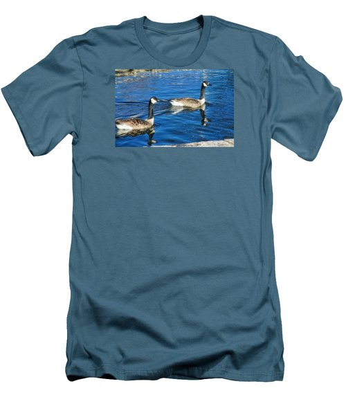 Men's T-Shirt (Slim Fit) featuring the photograph Geese by Joan Bertucci