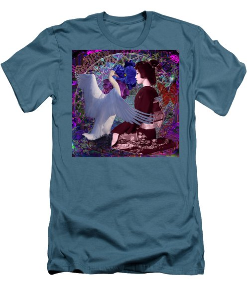 Geisha Swan Dance Men's T-Shirt (Athletic Fit)