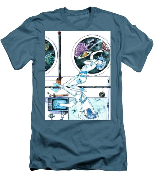 Gemini Journey Pollux Pleads Men's T-Shirt (Slim Fit) by D Renee Wilson