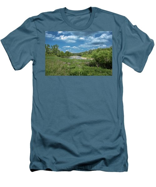Men's T-Shirt (Athletic Fit) featuring the photograph Genesee River by Guy Whiteley