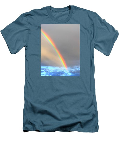 Men's T-Shirt (Slim Fit) featuring the photograph Genesis Rainbow by Lanita Williams