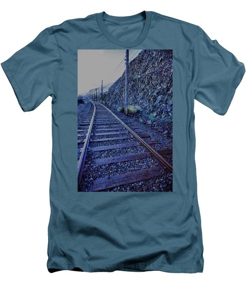 Men's T-Shirt (Slim Fit) featuring the photograph Gently Winding Tracks by Jeff Swan