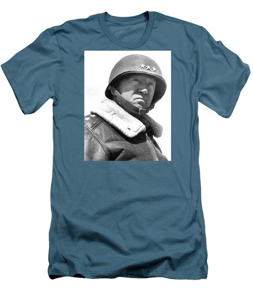George S. Patton Unknown Date Men's T-Shirt (Slim Fit) by David Lee Guss