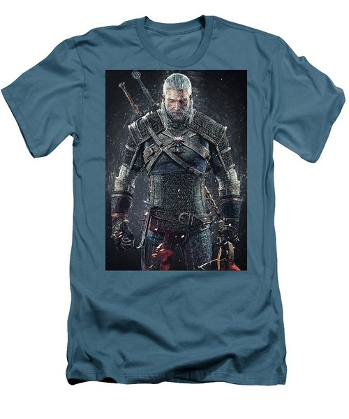 Men's T-Shirt (Athletic Fit) featuring the digital art Geralt Of Rivia - Witcher  by Taylan Apukovska