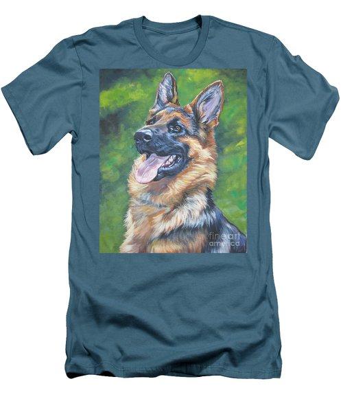 German Shepherd Head Study Men's T-Shirt (Athletic Fit)