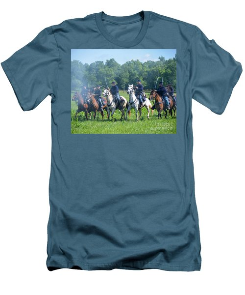 Gettysburg  Union Cavalry Men's T-Shirt (Athletic Fit)