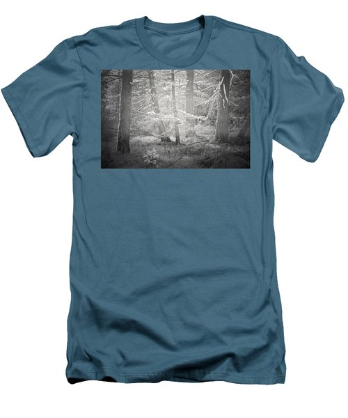 Men's T-Shirt (Slim Fit) featuring the photograph Ghosts Of The Forest 3 by Tara Turner