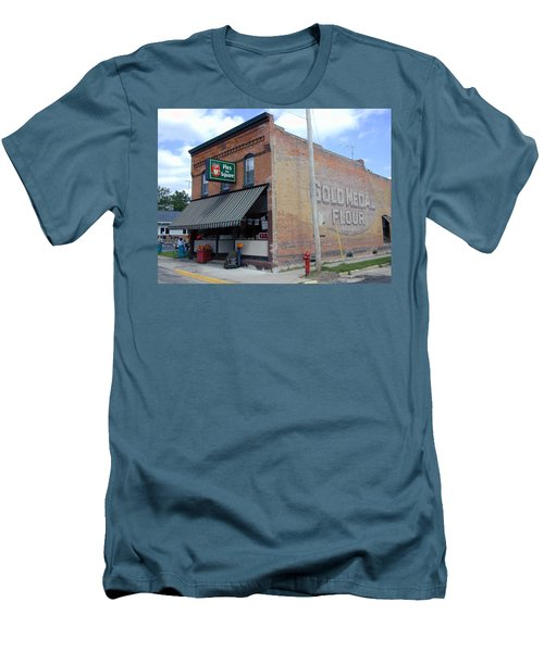 Men's T-Shirt (Athletic Fit) featuring the photograph Gina's Pies Are Square by Mark Czerniec