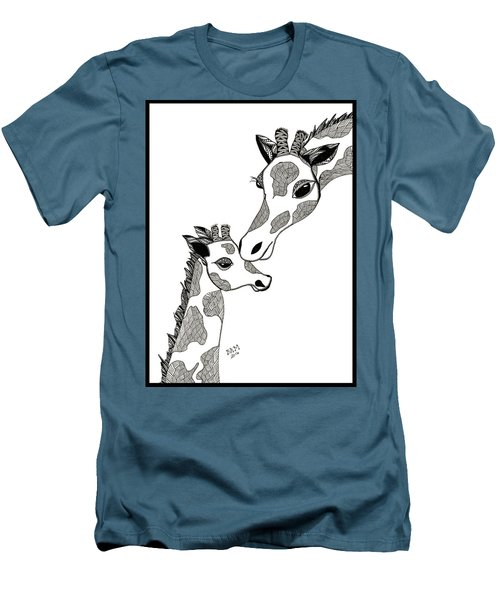 Giraffe Mom And Baby Men's T-Shirt (Athletic Fit)