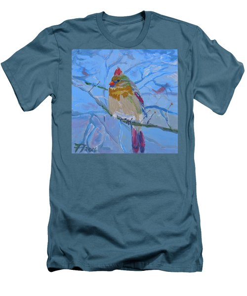 Girl Cardinal Men's T-Shirt (Slim Fit) by Francine Frank