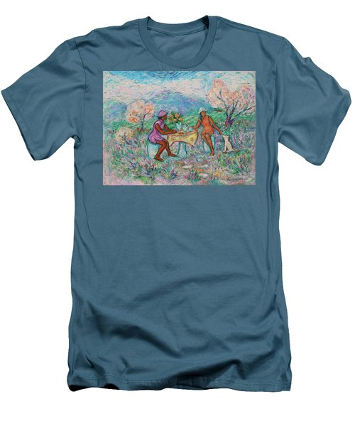 Men's T-Shirt (Athletic Fit) featuring the painting Girlfriends' Teatime Iv by Xueling Zou
