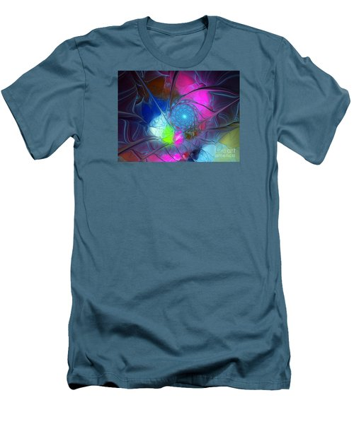 Men's T-Shirt (Slim Fit) featuring the digital art Girls Love Pink by Karin Kuhlmann