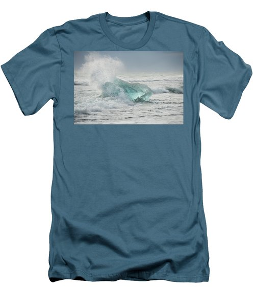 Glacial Iceberg In Beach Surf. Men's T-Shirt (Athletic Fit)