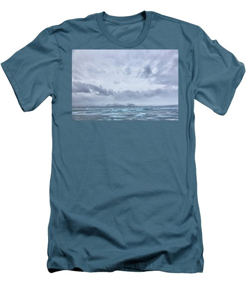 Glacial Lagoon Iceland Men's T-Shirt (Athletic Fit)